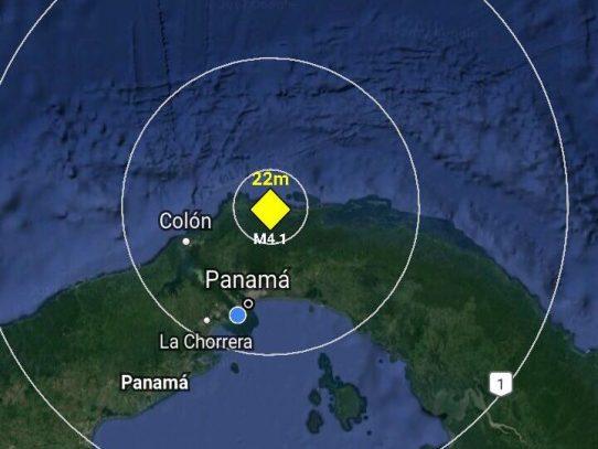Temblor de 4.1 sacude Panamá