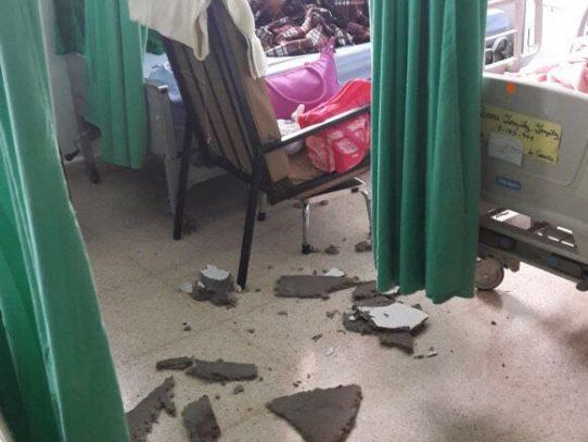 Séptimo piso del Complejo Hospitalario resultó afectado por las lluvias