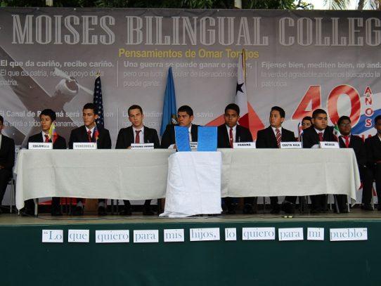 Estudiantes rinden homenaje al equipo negociador de los tratados Torrijos Carter