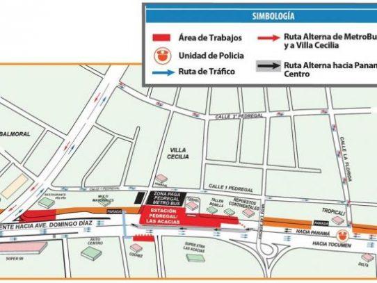 Implementarán desvíos en Avenida Domingo Díaz por montaje de vigas desde este lunes