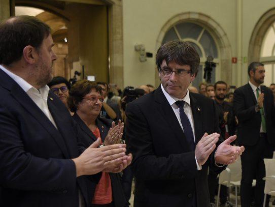Principales puntos del discurso del presidente catalán Carles Puigdemont