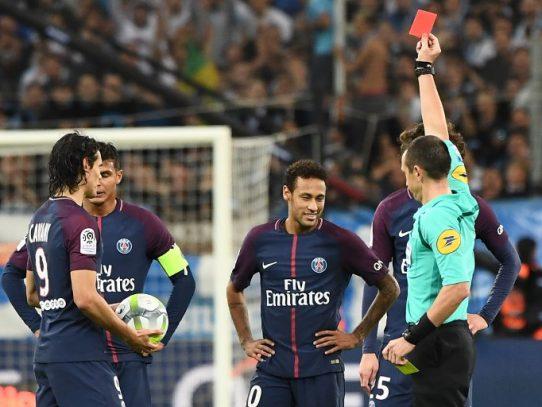 Neymar, suspendido un partido por su expulsión en Marsella