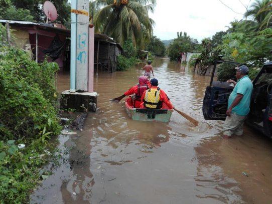 300 familias afectadas por las lluvias  de este jueves en Chiriquí y Veraguas