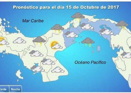 Se esperan lluvias este domingo en las provincias de Panamá y Colón