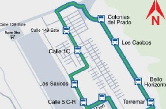 Desde este lunes Mi Bus unificará recorrido en las  rutas Corredor Sur – Don Bosco – Caobos