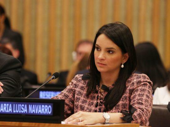 Viceministra Navarro sustentará importancia del Hub Humanitario en el ECOSOC