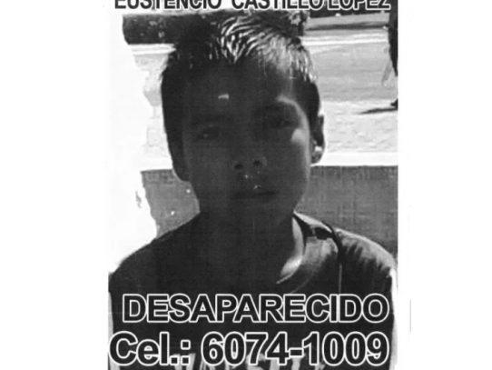 Fiscalía solicita información que permita hallar al niño Eustencio Castillo