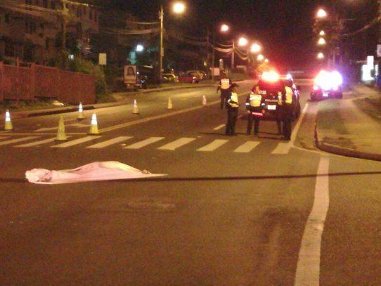 Muere peatón tras ser atropellado en la Vía José Agustín Arango
