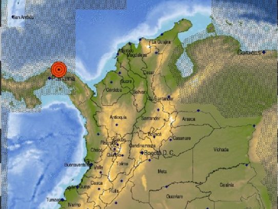 Temblor de 4.8 sacude Panamá