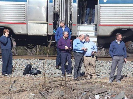 Un muerto en accidente de tren en el que viajaban legisladores de EEUU