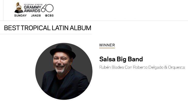 Periódicos panameños ignoran Grammy de Rubén Blades en sus portadas