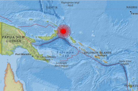Fuerte sismo de 7,5 de magnitud sacudió Papúa Nueva Guinea