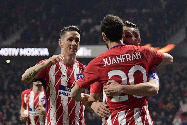 El Atlético pone un pie en los cuartos de la Europa League