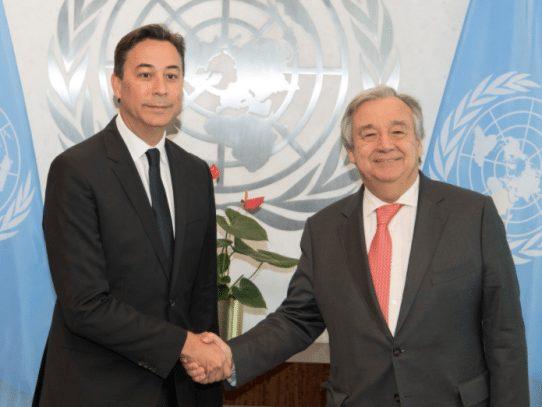 Arrocha entrega credenciales como embajador panameño ante la ONU