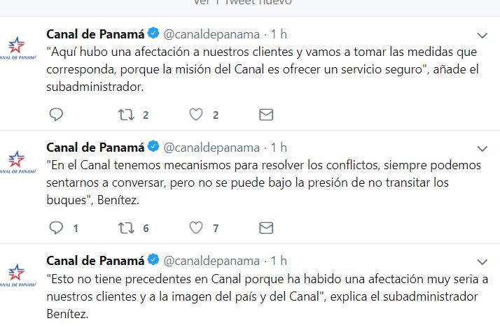 ACP podría destituir a capitanes de remolcador que paralizaron tránsitos