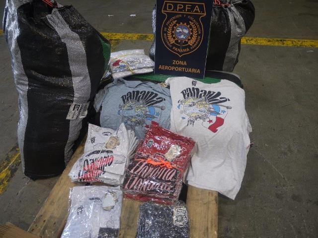 Decomisan en Aeropuerto de Tocumen mercancía falsificada procedentes de India y Perú