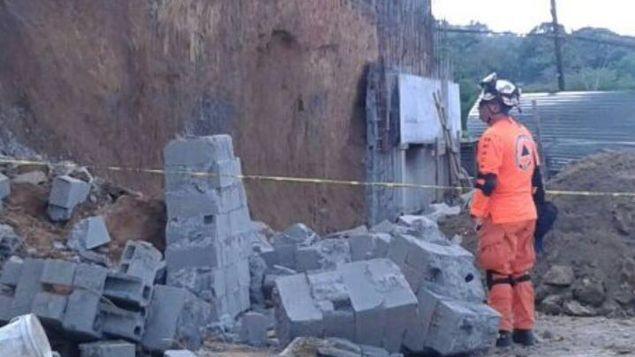 Un muerto y un herido tras colapso de un muro en Arraiján