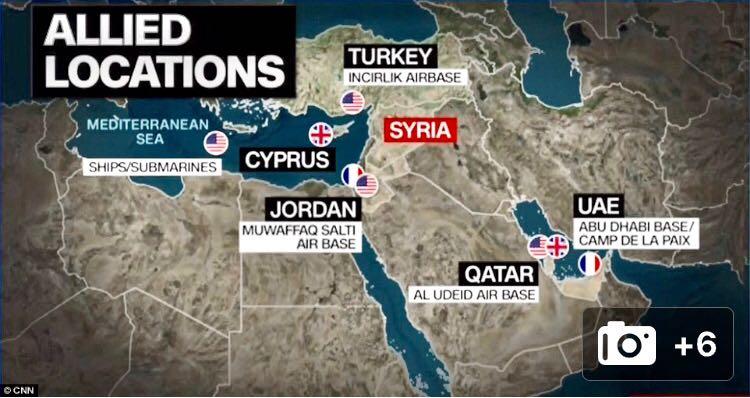 """""""Hemos golpeado exitosamente todos nuestros objetivos en Siria"""", afirma el Pentágono"""