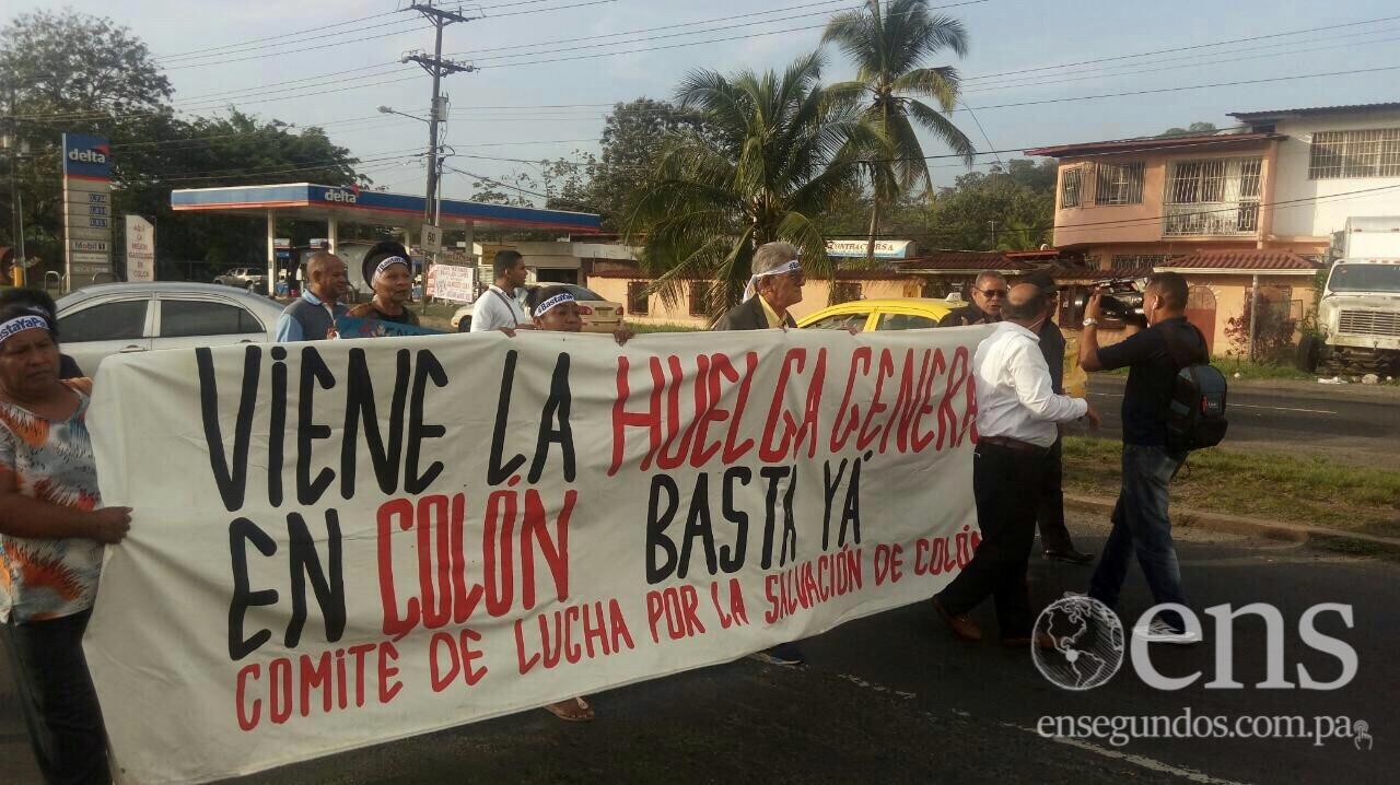 Comienza día de Huelga en Colón; comercio y transporte operan con normalidad