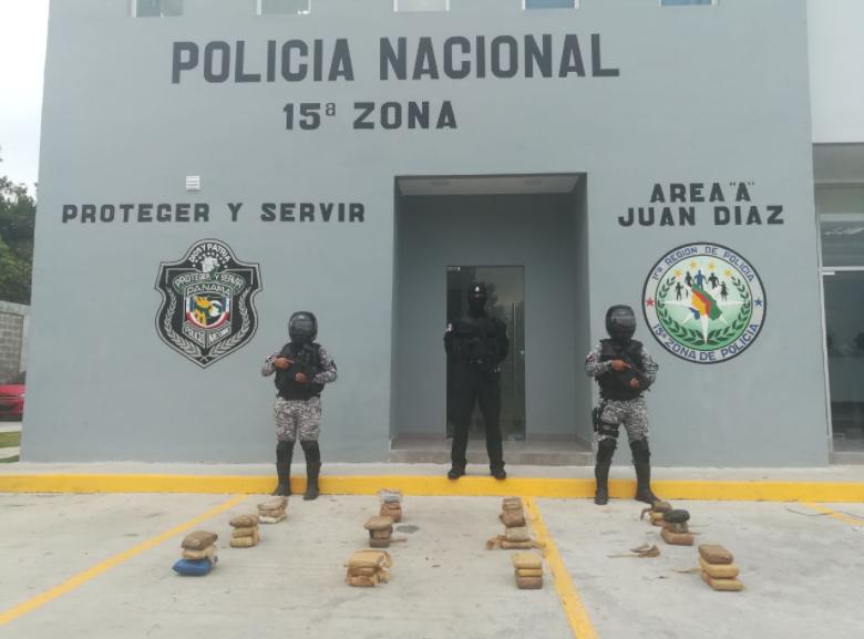 PN decomisa 36 paquetes de droga y detiene a dos personas en Juan Díaz