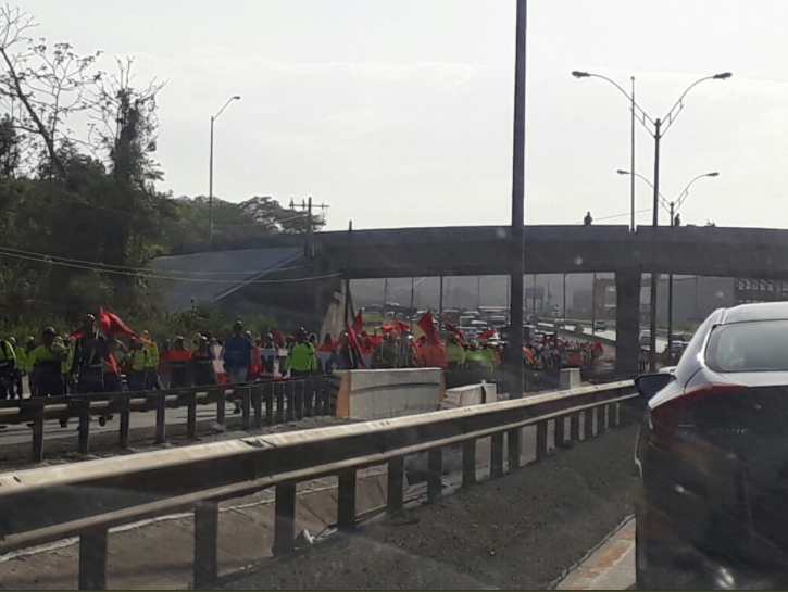 Suntracs se toma las calles de la capital para exigir mejoras salariales