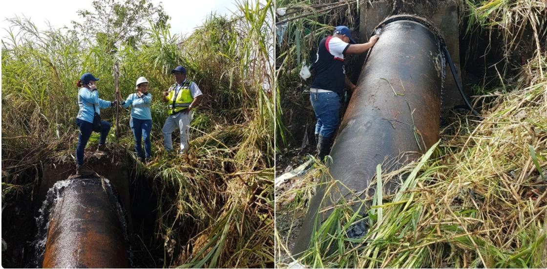 200 mil personas sin agua en la capital; trabajos en línea de Panamá Este continúan