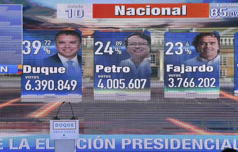 Elecciones presidenciales de Colombia irán a segunda vuelta el 17 de junio