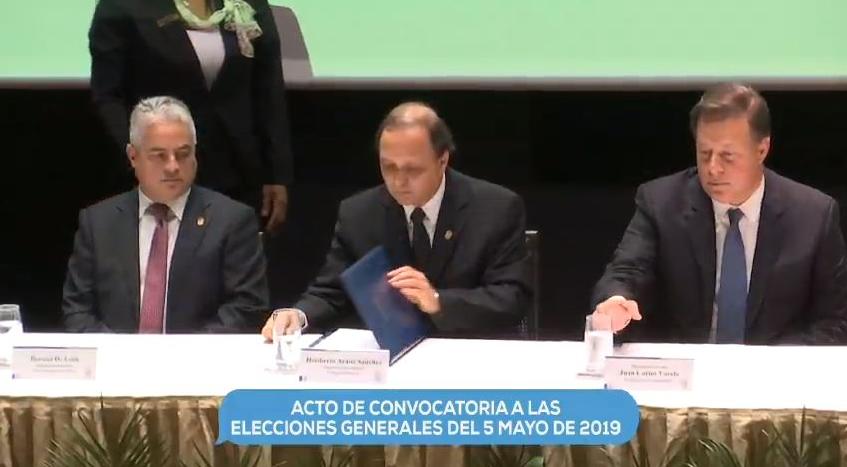 Tribunal Electoral oficializa convocatoria para las elecciones de 5 de mayo de 2019