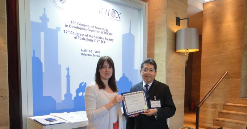 Científico panameño es premiado en Serbia, por la Unión Internacional de Toxicología