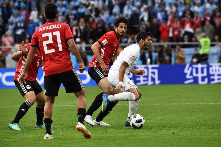 Uruguay gana 1-0 a un Egipto sin Salah en su arranque en el Mundial