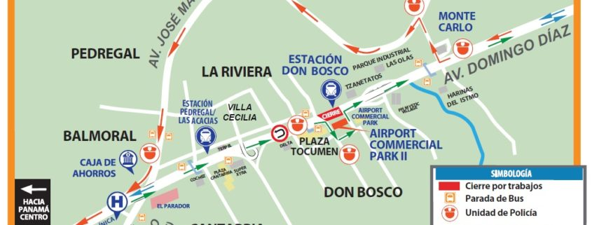 Cierre en Av. Domingo Díaz este sábado 16 de junio por trabajos en la linea 2 del Metro