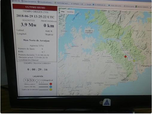 Sismo de magnitud 3.9 fue registrado al norte de Arraiján