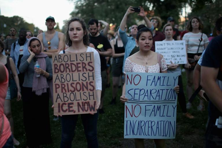 Protestas en todo EEUU contra la dura línea antiinmigrantes de Trump