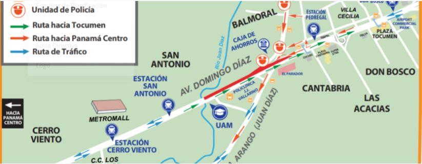 """Por montaje de vigas """"U"""", el martes se realizará cierre de carriles en la Domingo Díaz"""