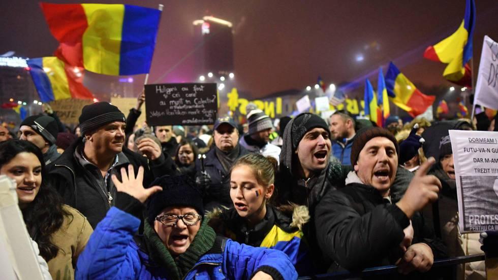 Más de 450 heridos en Rumanía durante una manifestación en contra del gobierno