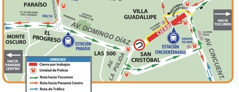 Suspenden este fin de semana cierre en la Ave. Domingo Díaz y montaje de pasarela en la estación Cincuentenario