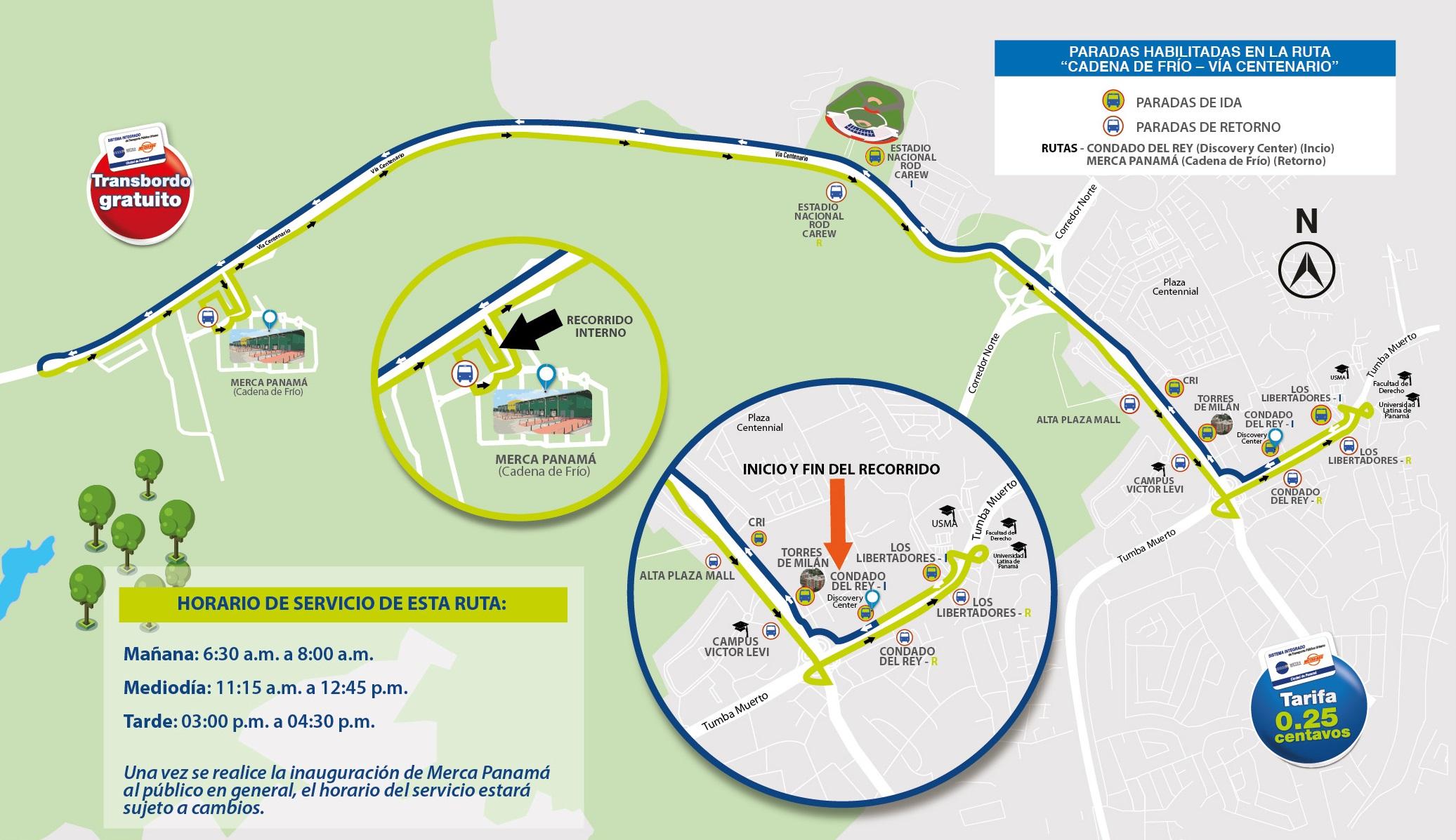 Nueva ruta de Metrobús en Vía Centenario inaugura el 27 de agosto