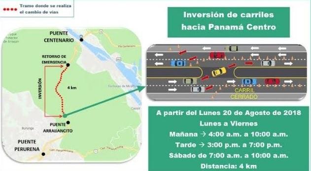 Extenderán horario de inversión de carriles en la Vía Centenario