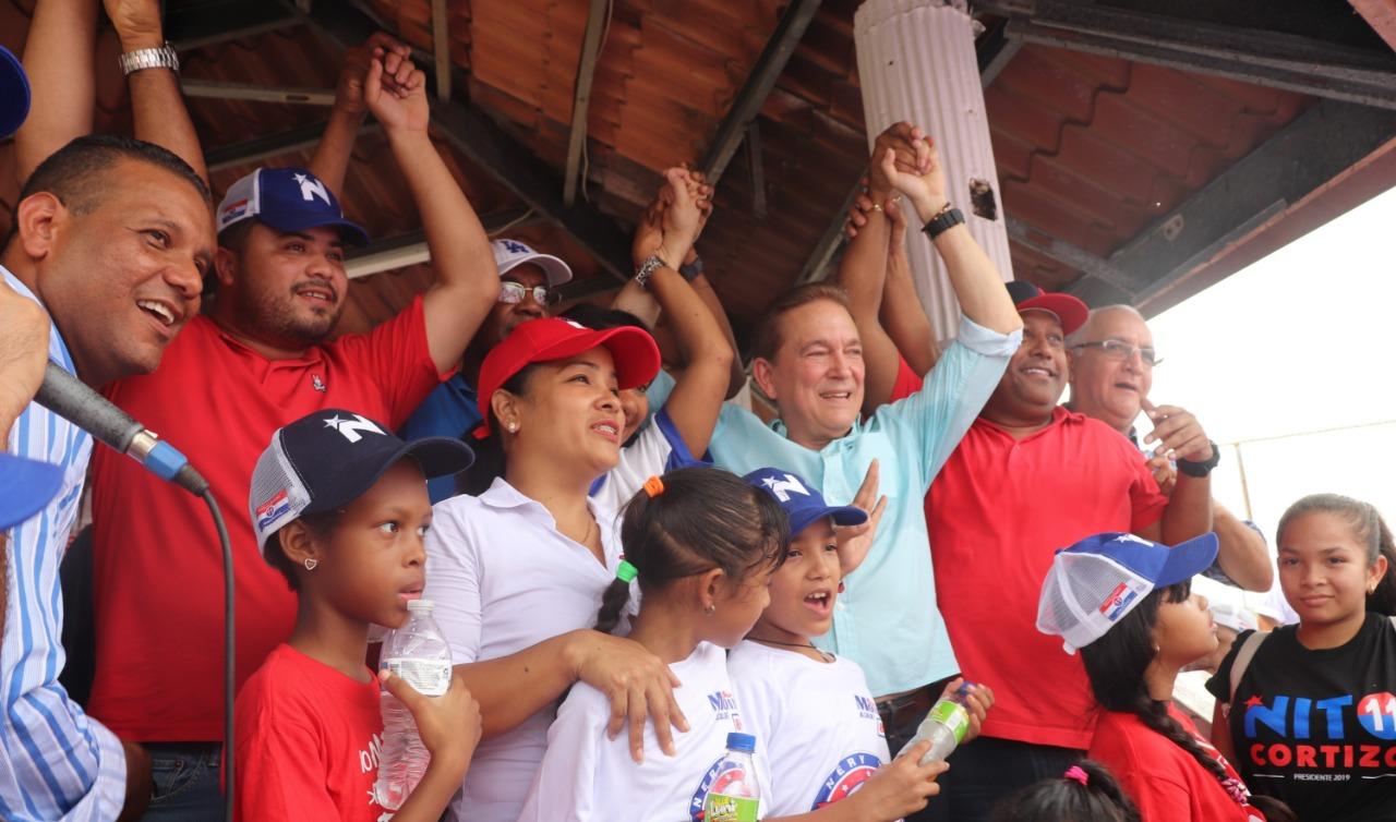 Cortizo recibe respaldo en San Miguelito