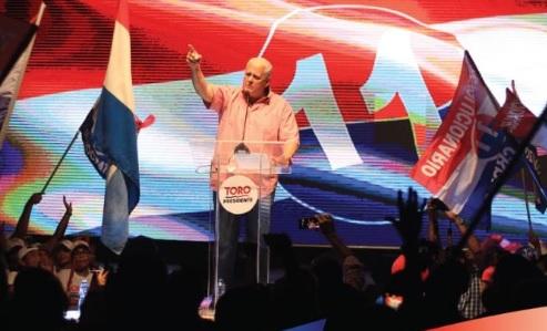 Pérez Balladares cerró  su campaña política  con festival