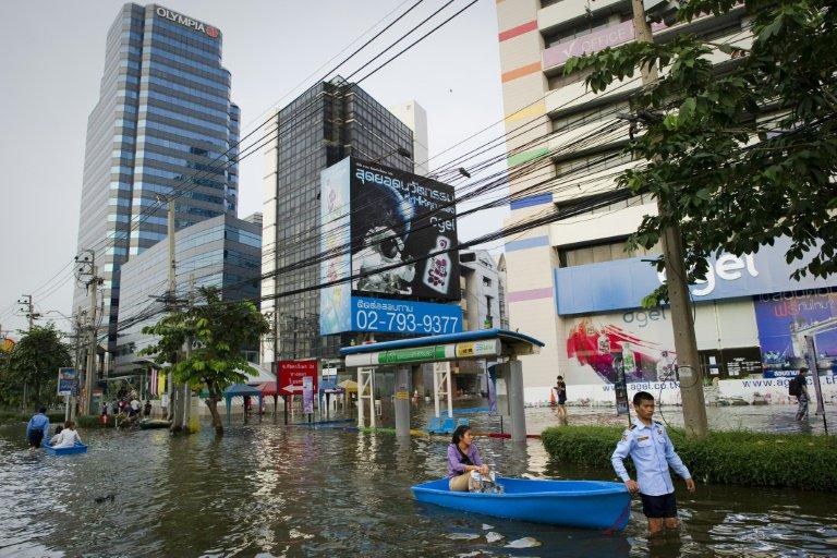 Bangkok se hunde y una parte de la ciudad podría quedar sumergida en 2030