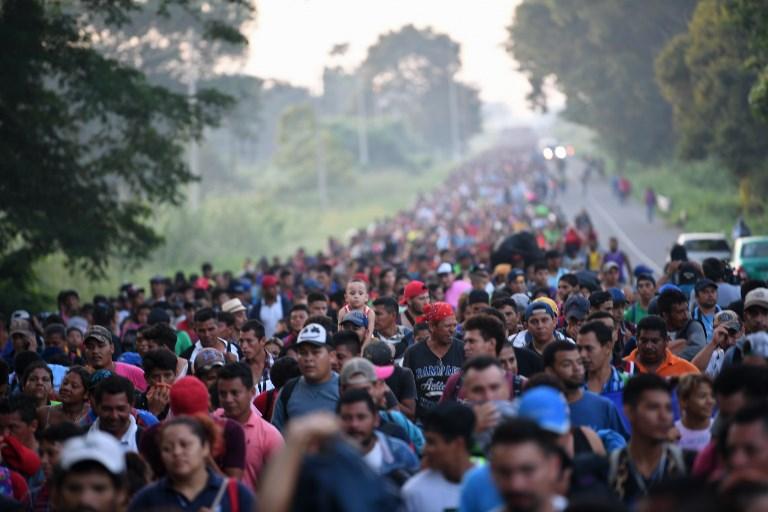 Primera gran caravana migrante centroamericana cumple un mes de camino a EEUU