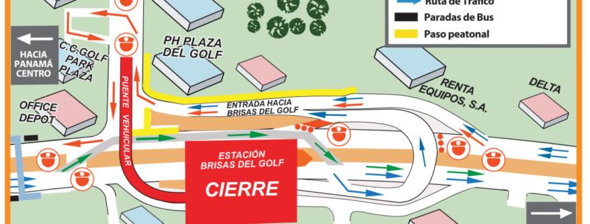 Desvíos hasta este domingo 14 de octubre en la Av. Domingo Díaz por trabajos del metro