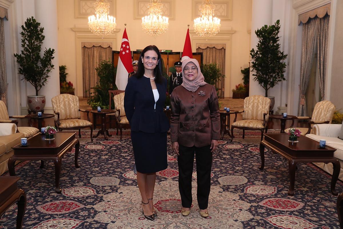 Vicepresidenta Saint Malo inicia visita oficial en Singapur