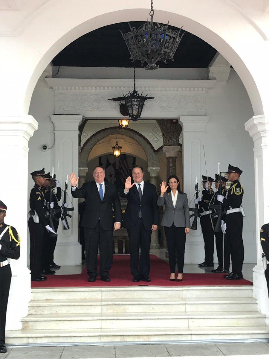 """Pompeo a Panamá: """"Queremos asegurarnos que tengan los ojos muy abiertos con China"""""""