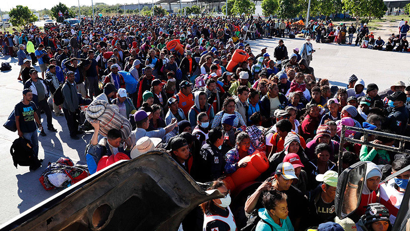 Más de 1.500 centroamericanos de caravana migrante llegaron a frontera México-EE.UU.