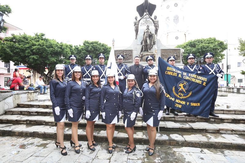 Ex alumnos del Instituto Fermín Naudeau crean Batallón de Egresados