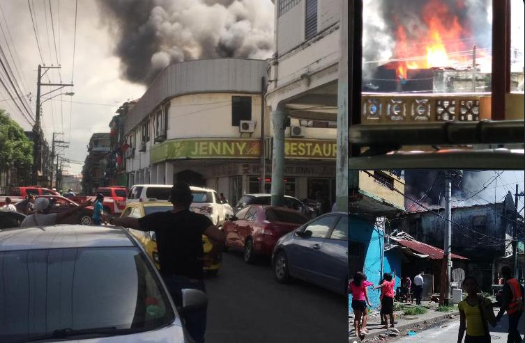 Atienden incendio registrado en calle 12 Santa Isabel, provincia de Colón