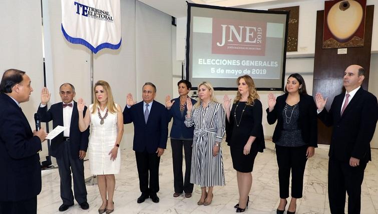 Junta Nacional de Escrutinio para las elecciones 2019  toma posesión