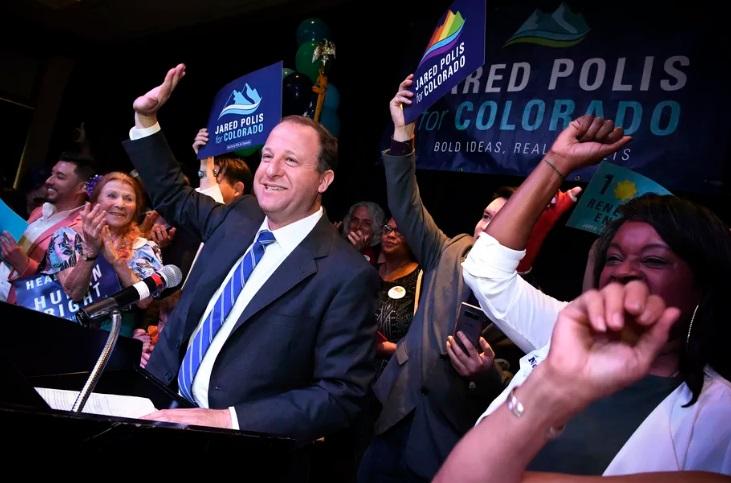 Jared Polis electo primer gobernador abiertamente gay en EE.UU.
